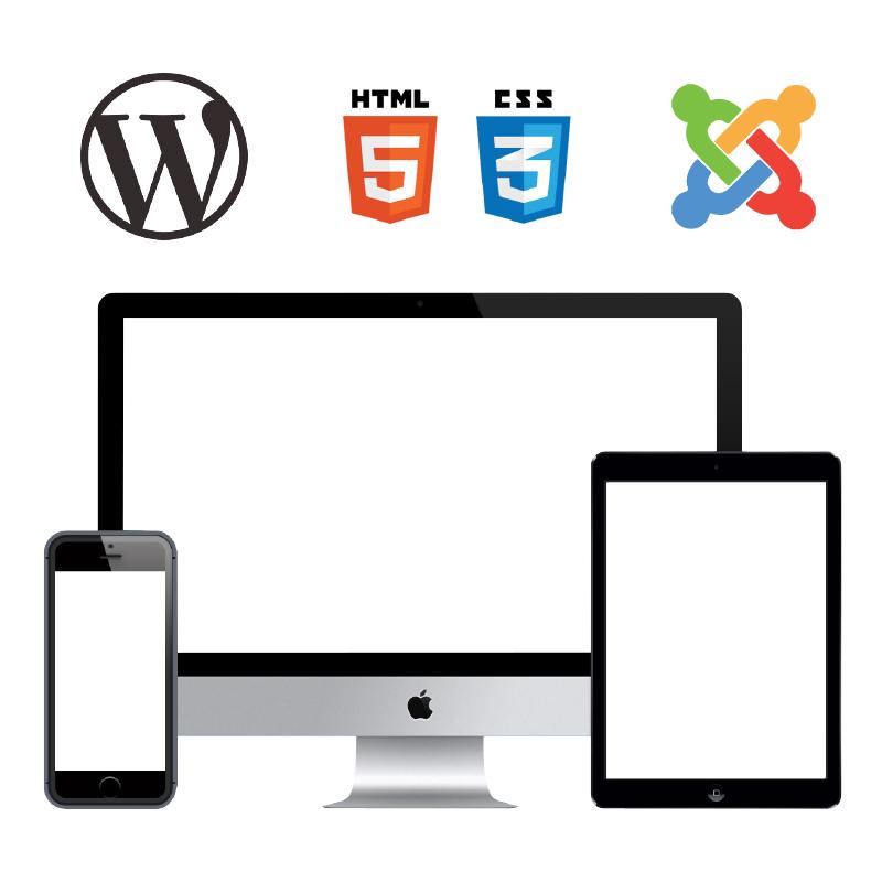 création de site web sous cms, content mangement system, wordpress et prestashop